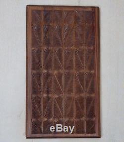 Vtg 1979 Tampons D'encre En Bois Bloc Sculptés À La Main En Papier Textile Impression Nouvelle-zélande