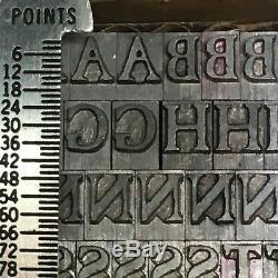 Xvie Siècle Caslon Antique 24 Pt Typographie Type Vintage En Métal Plomb Police